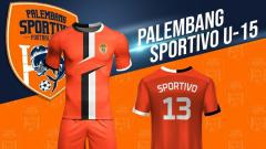 Indosport - Jersey klub Liga 3, Palembang Sportivo FC.