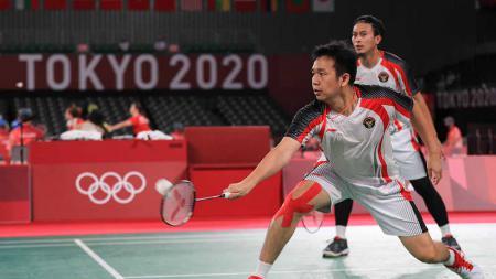 Hasil Bulutangkis Olimpiade Tokyo 2020: Ahsan/Hendra Gagal ke Final Setelah Tumbang dari Lee Yang/Wang Chi-Lin. - INDOSPORT