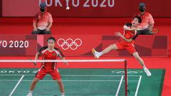 Indosport - Kevin Sanjaya dan Marcus Fernaldi Gideon, ganda putra Indonesia.
