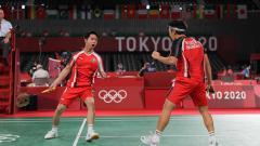 Indosport - Kevin Sanjaya dan Marcus Fernaldi Gideon, ganda putra andalan Indonesia.
