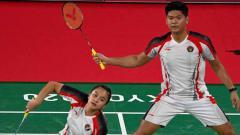 Indosport - Pasangan ganda campuran Indonesia, Praveen Jordan/Melati Daeva Oktavianti di Olimpiade 2020.