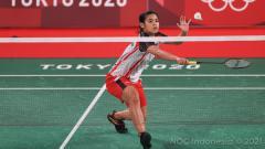 Indosport - Pebulutangkis Gregoria Mariska di Olimpiade 2020.