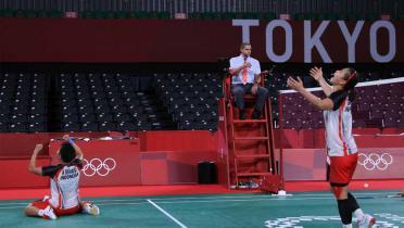 (GALERI FOTO) Lolos ke Semifinal Olimpiade Tokyo, Greysia/Apriyani Cetak Sejarah
