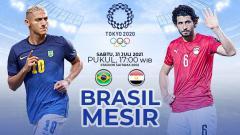 Indosport - Pertandingan antara Brasil vs Mesir (Olimpiade Tokyo).