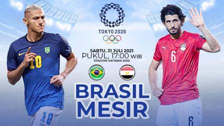 Pertandingan antara Brasil vs Mesir (Olimpiade Tokyo). - INDOSPORT