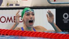 Indosport - Perenang Afrika Selatan, Tatjana Schoenmaker, sukses memecahkan rekor dunia di Olimpiade Tokyo 2020.
