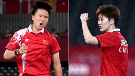 Pebulutangkis China yang ikut serta Piala Sudirman 2021, He Bing Jiao dan Chen Yufei. - INDOSPORT