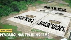 Indosport - Dewa United FC mulai membangun training camp standar internasional di Megamendung, Bogor, Jawa Barat.
