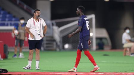 Randal Kolo Muani, striker Prancis di Olimpiade 2020 incaran AC Milan. - INDOSPORT