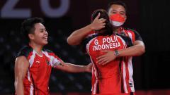 Indosport - Aksi Greysia Polii dan Apriyani Rahayu ke final Olimpiade Tokyo