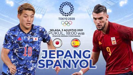 Berikut link live streaming pertandingan semi final sepak bola Olimpiade 2020 antara Jepang vs Spanyol. - INDOSPORT