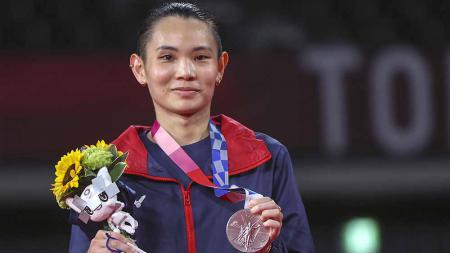 Pebulutangkis tunggal putri Taiwan, Tai Tzu Ying menjadi sorotan media asing lantaran dirinya memiliki jakun seperti yang dimiliki oleh pria. - INDOSPORT