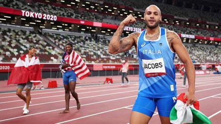 Lamont Marcell Jacobs, pemenang medali emas di Olimpiade Tokyo. - INDOSPORT