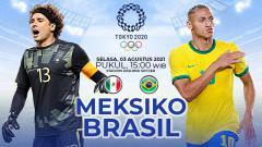 Indosport - Pertandingan antara Meksiko vs Brasil (Olimpiade Tokyo).