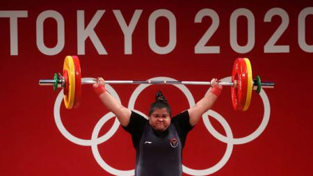 Atlet angkat besi kebanggaan Indonesia, Nurul Akmal. - INDOSPORT