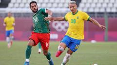 Indosport - Hasil Semifinal Sepak Bola Putra Olimpiade Tokyo 2020 antara Meksiko vs Brasil, Selasa (03/08/21) sore WIB.