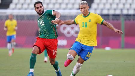 Hasil Semifinal Sepak Bola Putra Olimpiade Tokyo 2020 antara Meksiko vs Brasil, Selasa (03/08/21) sore WIB. - INDOSPORT