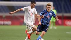 Indosport - Situasi laga Jepang vs Spanyol di semifinal Olimpiade Tokyo 2020.