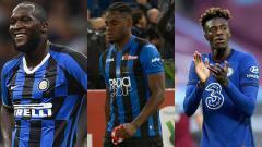 Indosport - Kolase Romelu Lukaku, Duvan Zapata, dan Tammy Abraham.