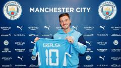 Indosport - Jack Grealish resmi bergabung dengan Manchester City.