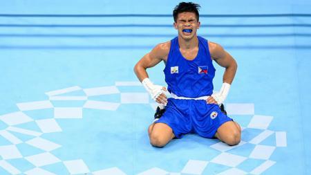 Petinju Filipina di Olimpiade Tokyo 2020, Carlo Paalam. - INDOSPORT