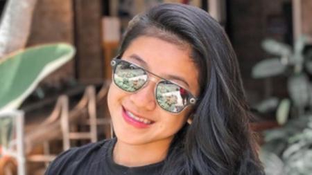 Atlet balap sepeda asal Sumatera Selatan (Sumsel) Jasmine Azzahra Setyobudi. - INDOSPORT