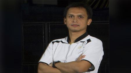 Muamar Qadafi, pelatih bulutangkis Guatemala asal Indonesia. - INDOSPORT