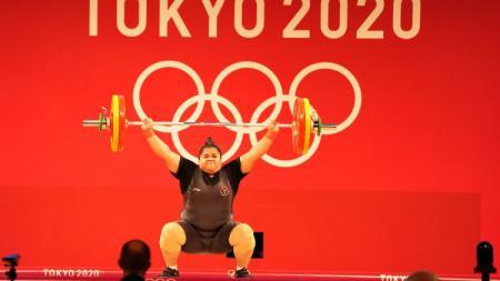Nurul Akmal kala bertanding di Olimpiade Tokyo 2020. - INDOSPORT