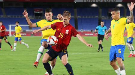Situasi laga Brasil vs Spanyol di final Olimpiade Tokyo 2020. - INDOSPORT
