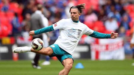 Jack Grealish saat laga pada The FA Community Shield antara Manchester City vs Leicester City di Stadion Wembley. - INDOSPORT