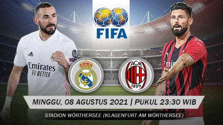 Pertandingan antara Real Madrid vs AC Milan (Persahabatan). - INDOSPORT
