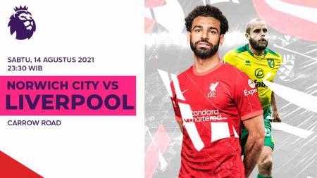 Link Live Streaming Pertandingan Pekan Pertama Liga Inggris: Norwich City vs Liverpool. - INDOSPORT