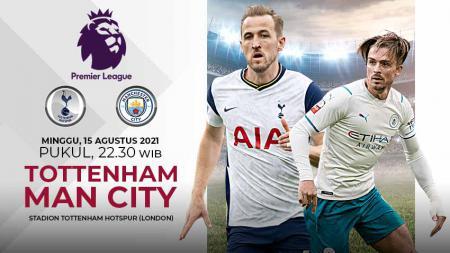 Berikut data dan fakta jelang big match pada pekan perdana kompetisi Liga Inggris musim 2021-2022 antara Tottenham Hotspur vs Manchester City. - INDOSPORT