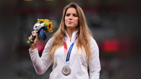 Maria Andrejczyk, atlet lempar lembing asal Polandia. - INDOSPORT