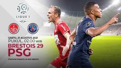 Indosport - Berikut prediksi pertandingan pekan ketiga Ligue 1 Prancis antara Brest vs Paris Saint-Germain (PSG), Sabtu (21/08/21) pukul 02.00 WIB.