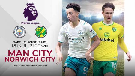 Link Live Streaming Liga Inggris: Manchester City vs Norwich City. - INDOSPORT
