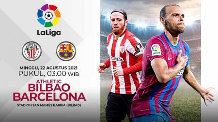 Link Live Streaming Pertandingan Pekan Kedua LaLiga Spanyol antara Athletic Bilbao vs Barcelona. - INDOSPORT
