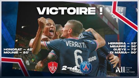 Kendati tanpa Lionel Messi, Paris Saint-Germain tetap tampil perkasa dan membawa pulang kemenangan meyakinkan 4-2 atas Brest di pekan kedua Ligue 1. - INDOSPORT