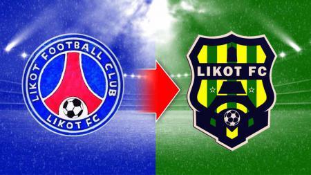 Perubahan logo klub Liga 3, Likot FC. - INDOSPORT