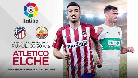 Pertandingan antara Atletico Madrid vs Elche (LaLiga). - INDOSPORT
