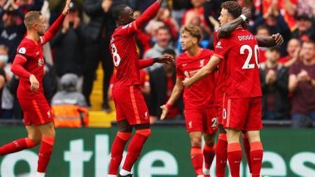Pertandingan Liga Inggris antara Liverpool kontra Burnley, Sabtu (21/8/21). - INDOSPORT