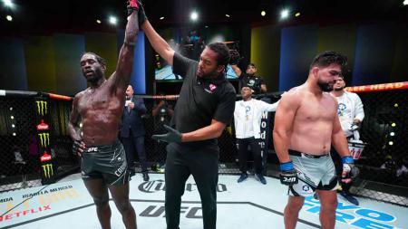 Kemenangan Jared Cannonier atas Kelvin Gastelum di UFC Begas 34. - INDOSPORT