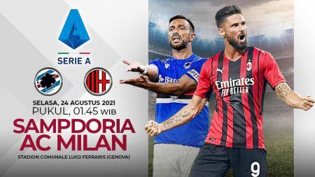 Link Live Streaming Pertandingan Serie A Italia: Sampdoria vs AC Milan. - INDOSPORT