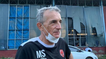 Head coach klub PSM Makassar, Milomir Seslija, memuji komposisi skuat Persik Kediri jelang bentrok di pekan keempat BRI Liga 1 2021/2022. - INDOSPORT
