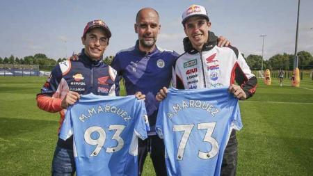 Marc Marquez, Alex Marquez dan Pep Guardiola - INDOSPORT