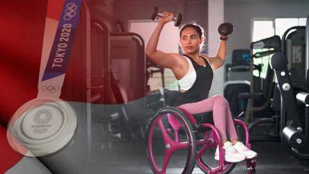 Ni Nengah Widiasih atlet powerlifting sumbang medali perak pertama untuk Indonesia di Paralimpiade Tokyo 2020 - INDOSPORT