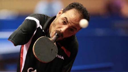 Di tengah gelaran Paralimpiade Tokyo, nama Ibrahim Hamadtou jadi perbincangan. Pasalnya, ia bisa menjadi atlet tenis meja meski tak memiliki kedua lengan. - INDOSPORT