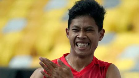 Sprinter Indonesia, Saptoyo Purnomo belum berhasil meraih medali di nomor lari 200 meter T37 Paralimpiade Tokyo 2020. - INDOSPORT