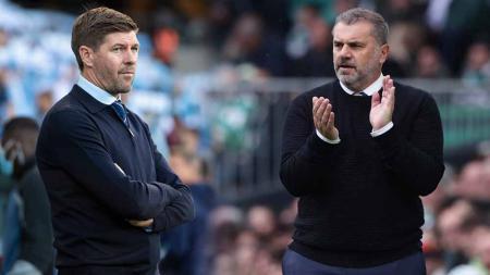 Steven Gerrard (Rangers) dan Ange Postecoglou (Celtic). - INDOSPORT