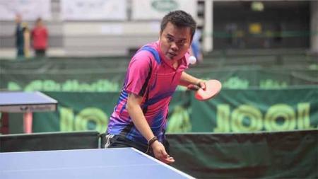 Atlet tenis meja Indonesia, Komet Akbar. - INDOSPORT